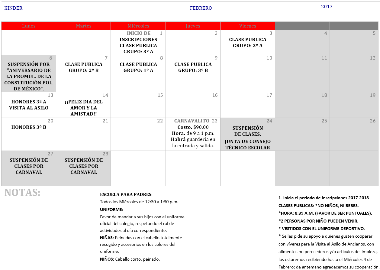 Calendario Para Kinder.Index Of Img Calendarios 2017