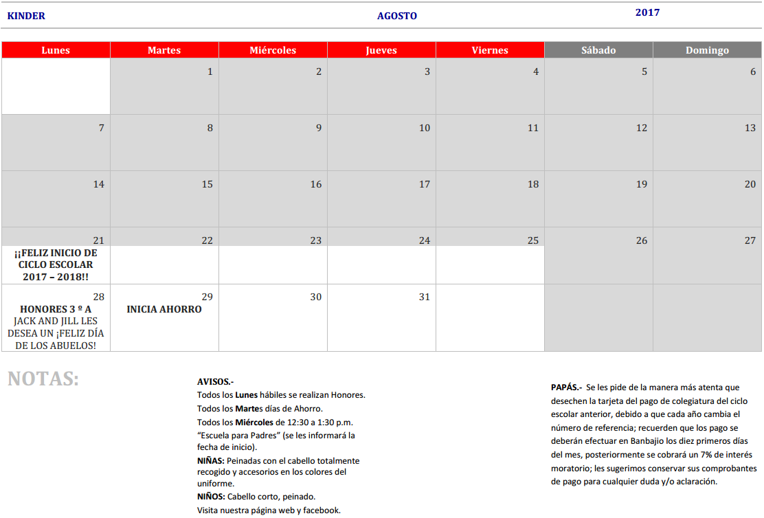 Calendario Para Kinder 2019.Index Of Img Calendarios 2017
